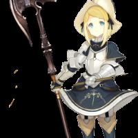 少女斧槍使い